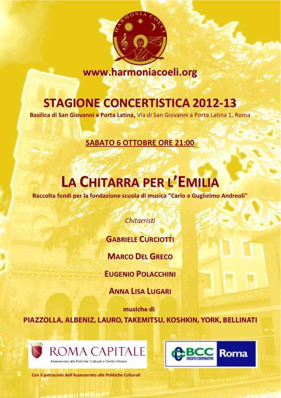 locandina concerto 6 ottobre
